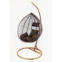 Подвесное кресло-качалка кокон B-183A (коричневый)