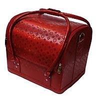Сумка-чемодан для мастера маникюра, парикмахера и визажиста YRE-2700-4 (красный)