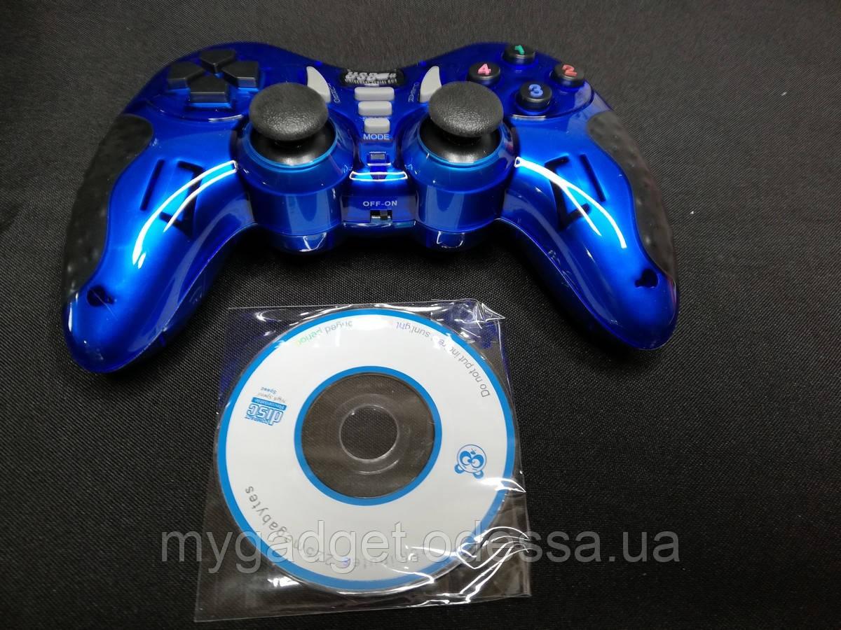 Игровой много-платформенный джойстик Wireless для PS2 PS3 PC Android TV Box (синий)