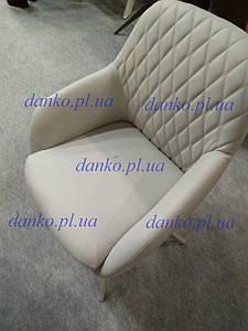 Поворотное кресло R-85 светло-серая Vetro Mebel, экокожа