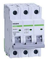 Автоматический выключатель трехполюсный Noark Ex9BS 3P C63 для защиты электрических цепей переменного тока
