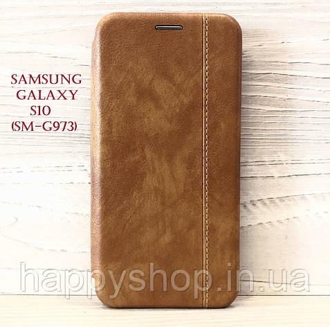 Чехол-книжка Gelius Leather для Samsung Galaxy S10 (SM-G973) Коричневый, фото 2