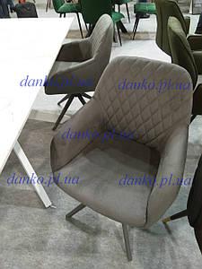 Поворотное кресло R-85 графит Vetro Mebel, ткань