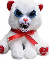Интерактивная игрушка Feisty Pets Хорошие Злые животные Плюшевый Мишка с красной лентой 20 см (0141_2)