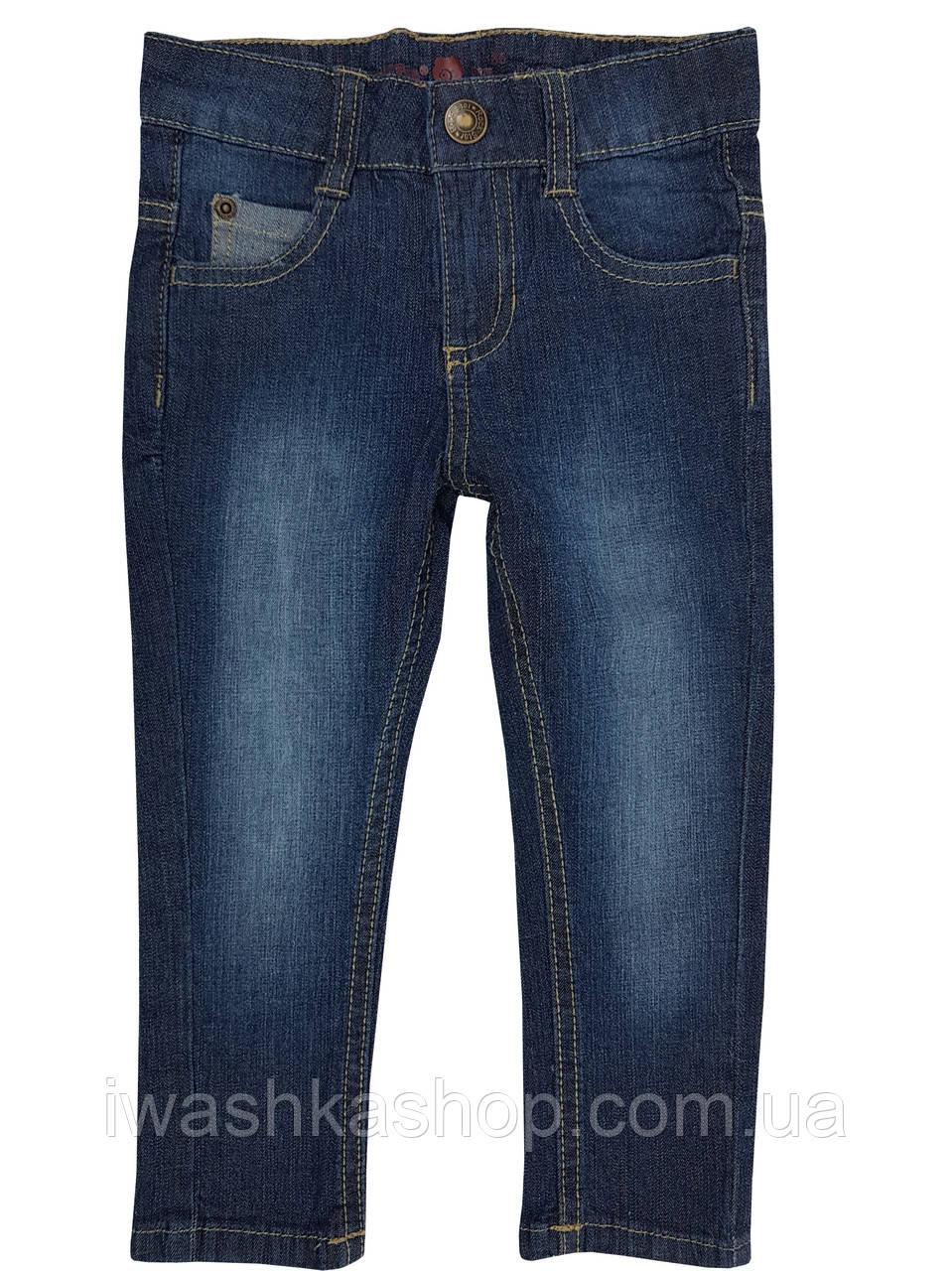 Стильные синие джинсы slim на мальчика 1 - 1,5 года, р. 86, Lupilu