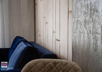 Loft Delicate Tiny Apartment by #DSAvtograf. Modern living room using Urban Indastrial Decor. Modern light. Wooden floor.   #dsavtograf #kyivdesign #design #interior #interiordesign #loft #urban #indastrial #furniture #scandinavian #livingroom #de