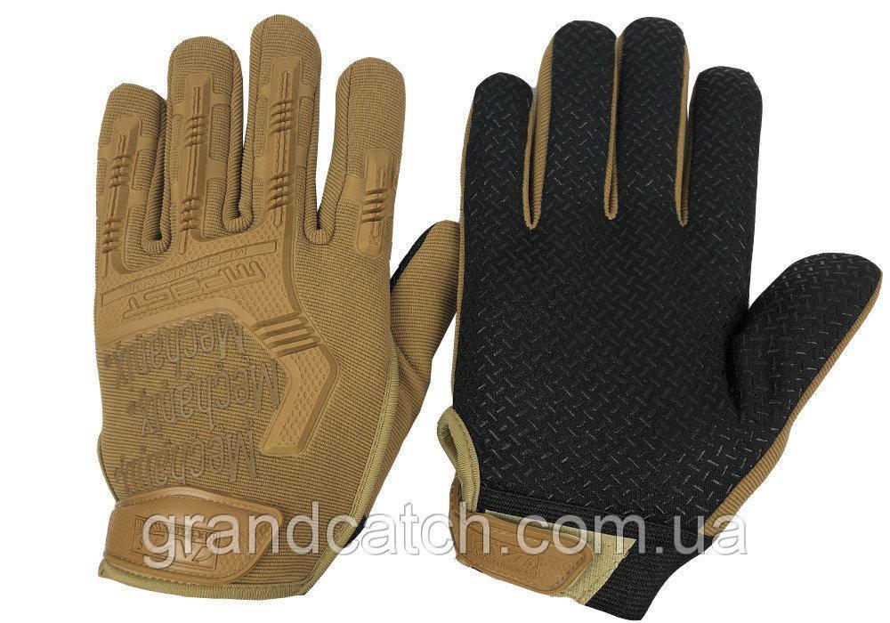 Перчатки Mechanix закрытые Койот