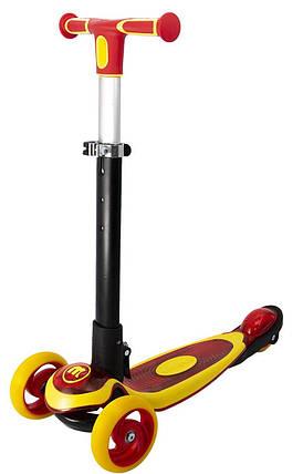 Самокат детский трехколесный  Maraton Jetta с подсветкой платформы и складной ручкой, фото 2