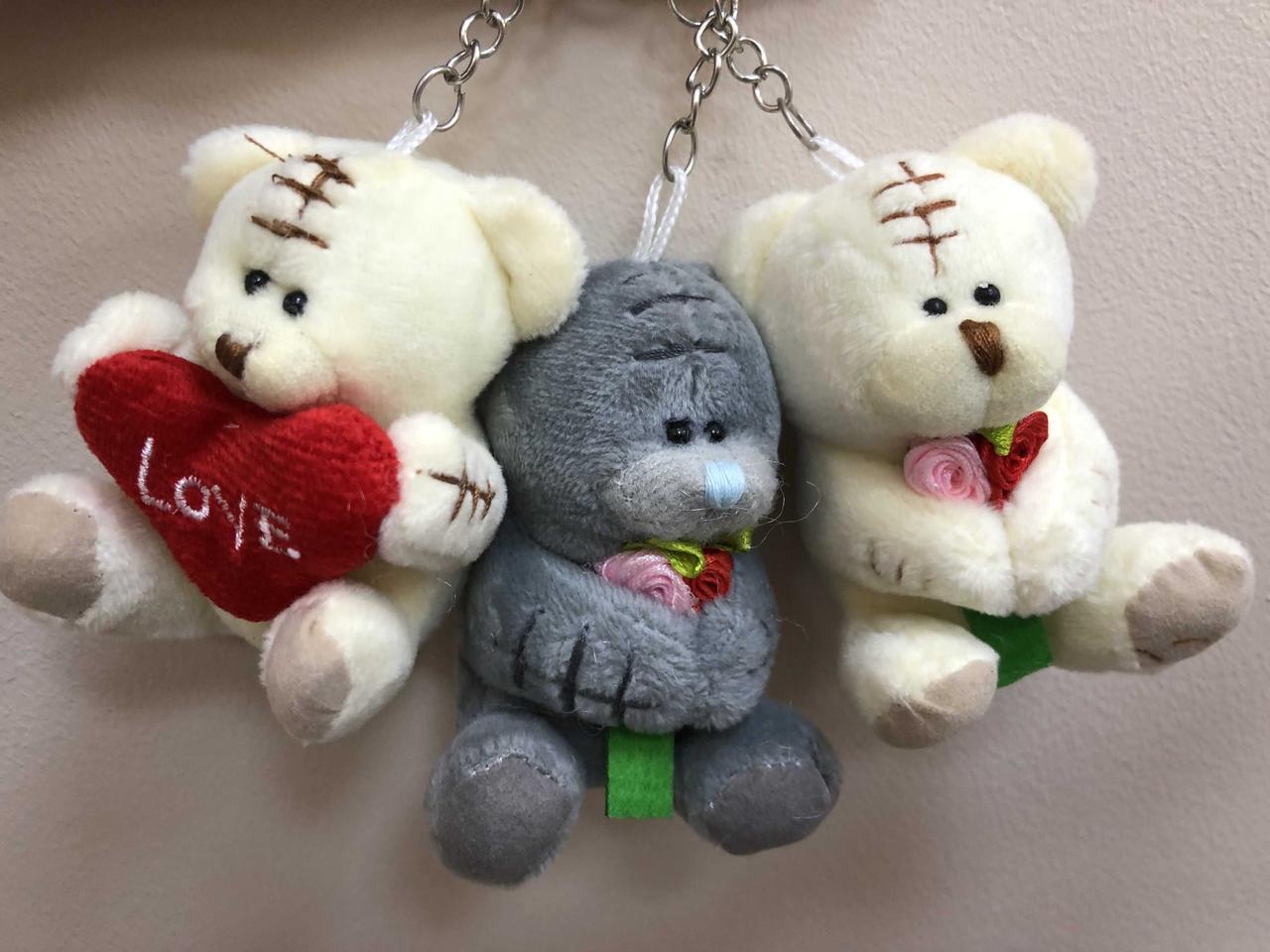 """Брелок - іграшка """"Ведмедик з квітами, серцем"""", Брелок """"Мишка с цветами, сердце"""""""