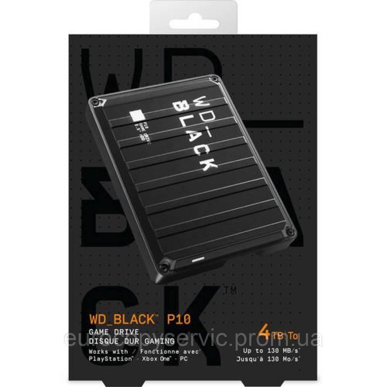 "Жосткий диск WD 2.5 ""USB 3.1 4TB WD_BLACK P10 Game Drive (WDBA3A0040BBK-WESN)"