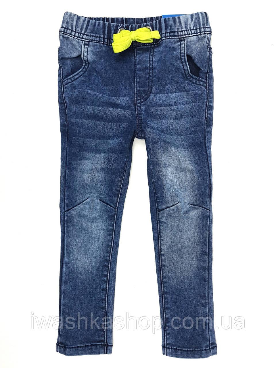 Стильные синие джинсы Straight fit на мальчика 1,5 - 2 года, р. 92, Kiki&Koko / KIK