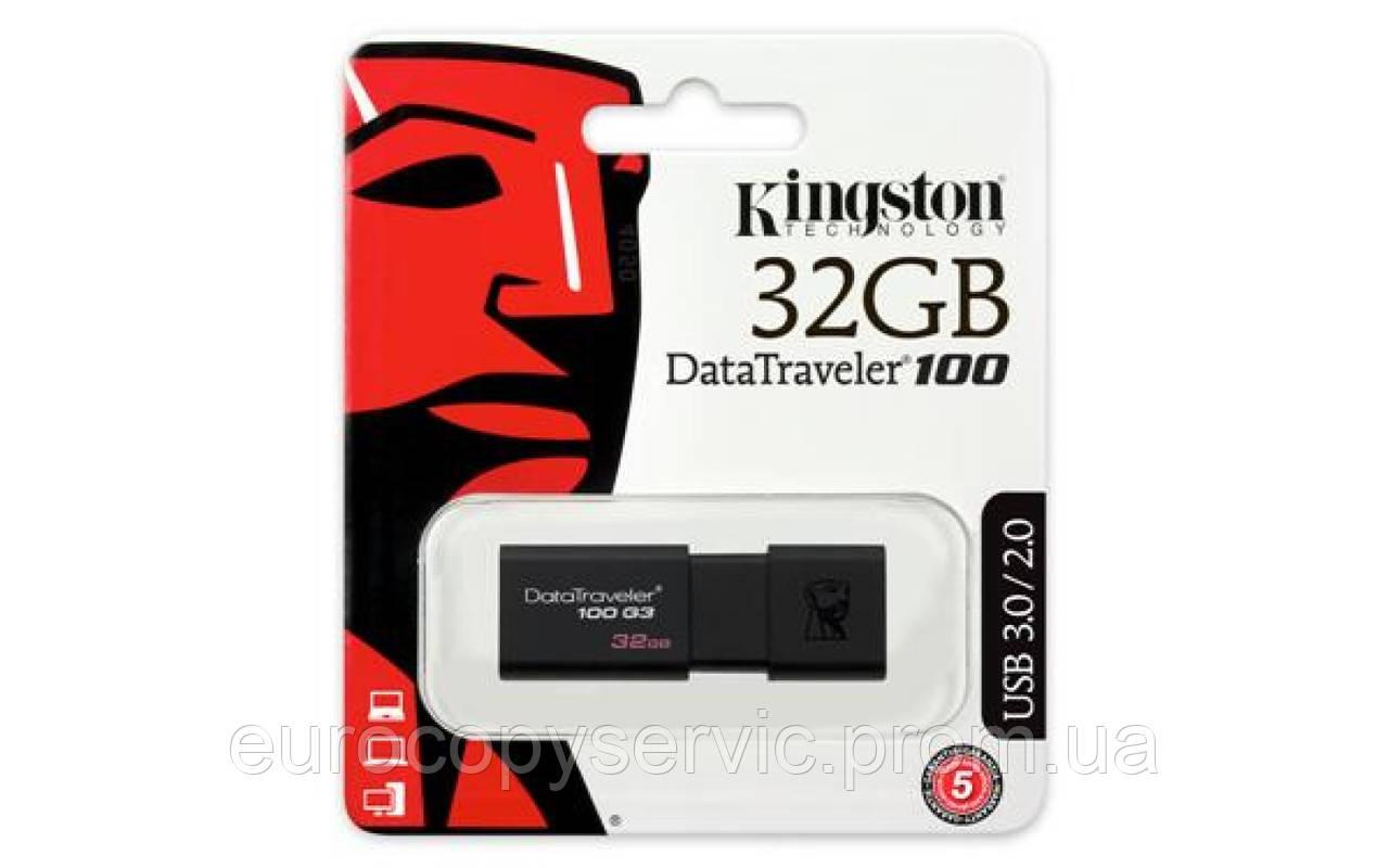 Накопичувач Kingston 32GB USB 3 DT100 G3 (DT100G3 / 32GB)