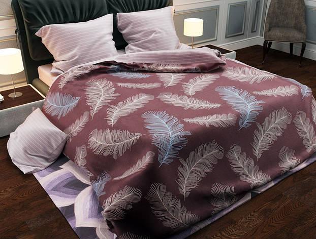Двуспальный комплект постельного белья евро 200*220 хлопок  (13986) TM KRISPOL Украина, фото 2