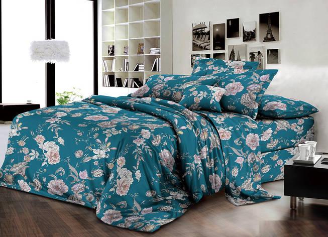 Двуспальный комплект постельного белья евро 200*220 хлопок  (13987) TM KRISPOL Украина, фото 2