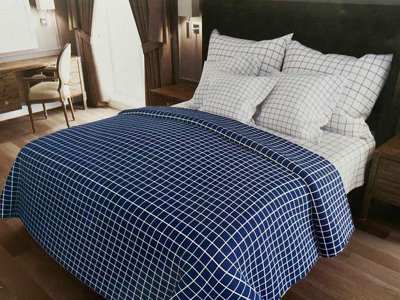 Двуспальный комплект постельного белья евро 200*220 хлопок  (13993) TM KRISPOL Украина