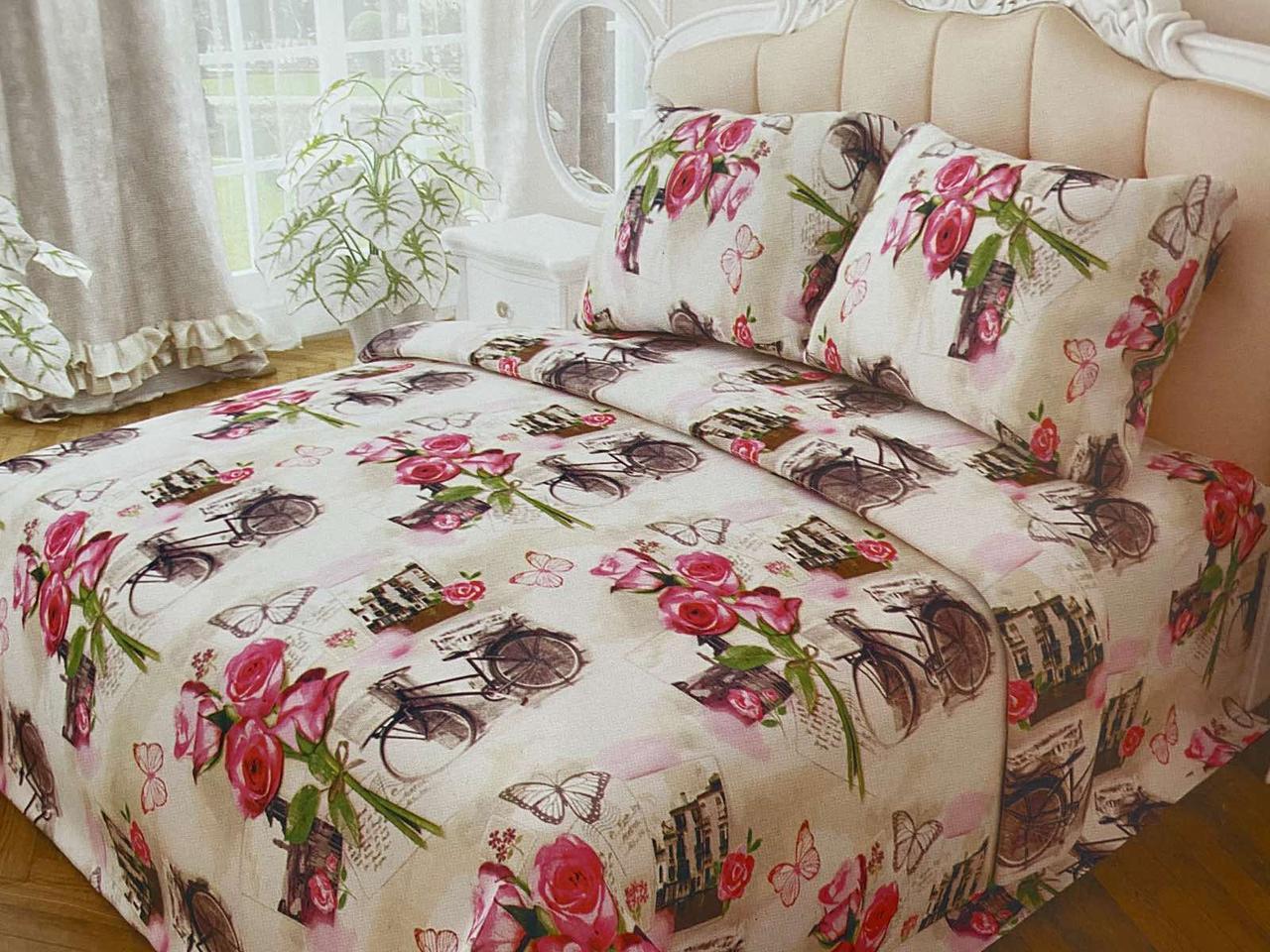 Двуспальный комплект постельного белья евро 200*220 хлопок  (13994) TM KRISPOL Украина