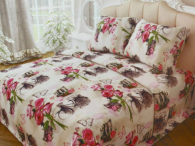 Двуспальный комплект постельного белья евро 200*220 хлопок  (13994) TM KRISPOL Украина, фото 2