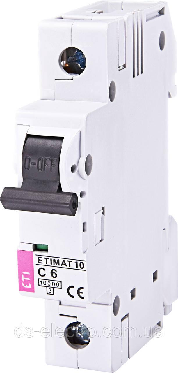 Авт. выключатель ETIMAT 10  1p C (10 kA)