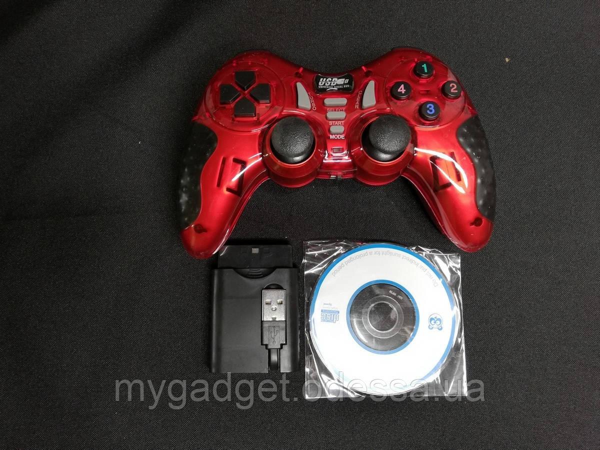 Игровой много-платформенный джойстик Wireless для PS2 PS3 PC Android TV Box (красный)