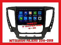 Штатная автомагнитола Mitsubishi Pajero 2016-2018 Android 10.1 CPU T3 4/32 Gb 10'' экран