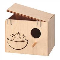 Домик-гнездо для птиц из дерева Ferplast NIDO LARGE