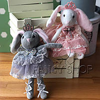 """Брелок - іграшка """"Зайка принцеса в сукні"""", Брелок """"Зайчик"""" 946-3, фото 2"""