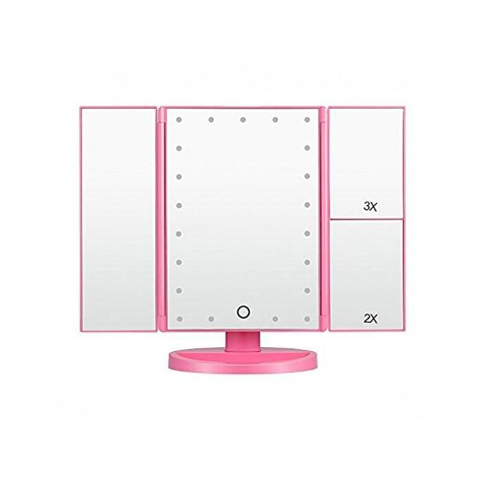 Зеркало для макияжа Superstar Magnifying Mirror с LED-подсветкой РОЗОВЫЙ