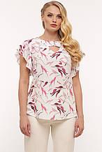Блуза жіноча Аліна біла 58 р