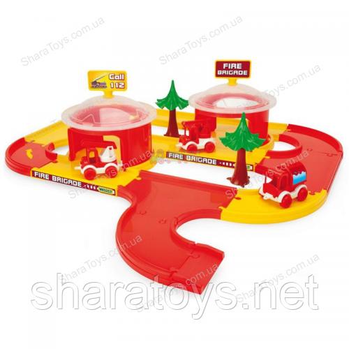 """Игровой набор пожарная станция Play Tracks City """"ТМ Wader"""""""