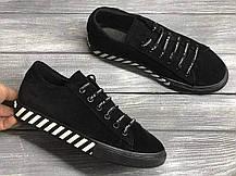 Оригинальные стильные замшевые мокасины хаки женские кеды кожаные размер 36-40, фото 2