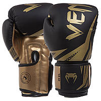 Перчатки боксерские на липучке VENUM Challenger, PU, р-р 8-12oz, золотой (BO-0866-(gl))