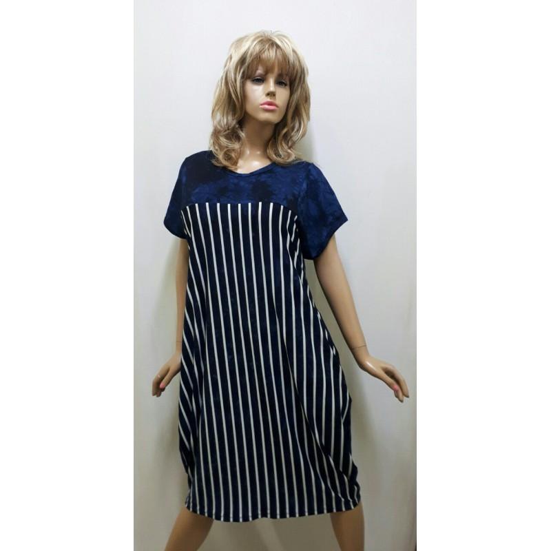 Платье вискозное в полоску,  от 52 до 60 размера