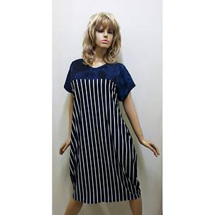 Платье вискозное в полоску,  от 52 до 60 размера, фото 2
