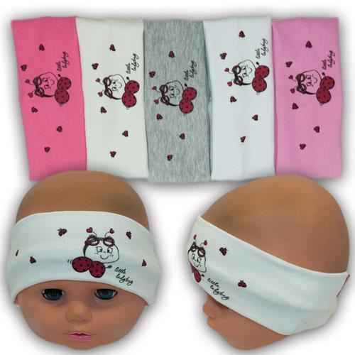 ОПТ Детская повязка для девочки с принтом, 40-48 (10шт/упаковка)