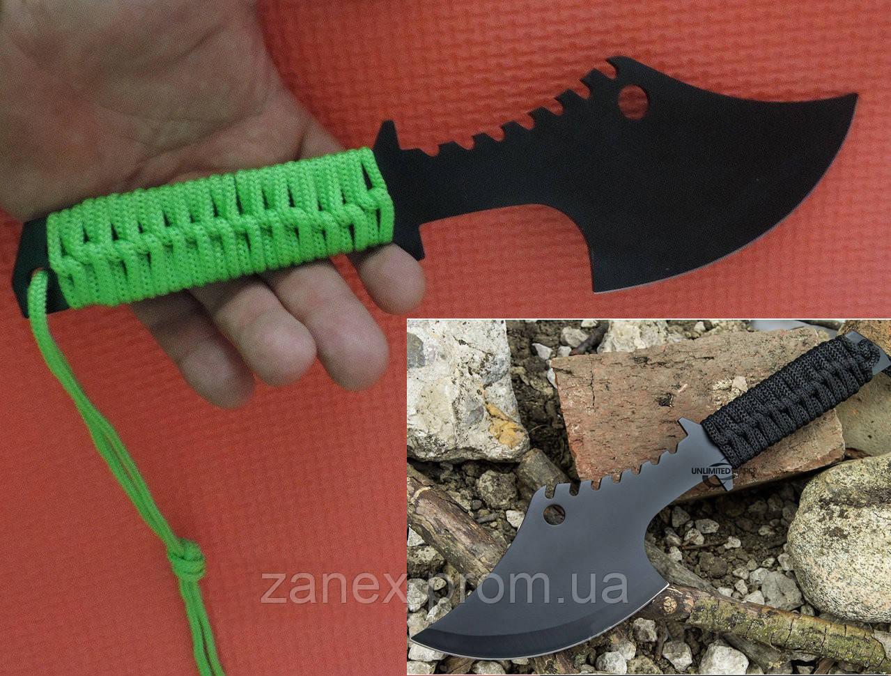 Метательный нож - топор (мачете - томагавк) Гарпия. Топор тактический с паракордом