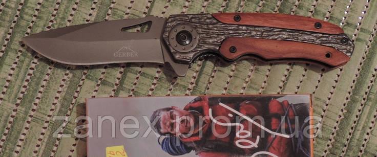 Нож тактический Гербер (Gerber) Bear Grylls - полуавтоматический. Клипса для ношения, копия., фото 2