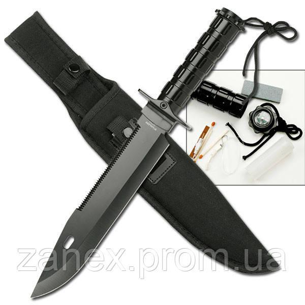 Нож для выживания Викинг (большой). С носимым аварийным запасом. (НАЗ).