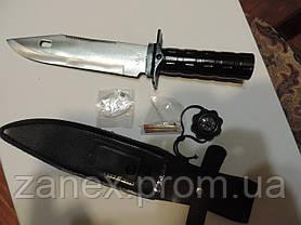 Нож для выживания Викинг (большой). С носимым аварийным запасом. (НАЗ)., фото 2