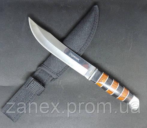 Нож Охотник. Охота / Рыбалка / Туризм. В ножнах. Наборная рукоятка. Нож с фиксированным лезвием. , фото 2
