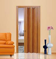 Двері гармошка глухі Дуб Рустик Folding, розсувні пластикові двері, міжкімнатні двері, приховані, складні