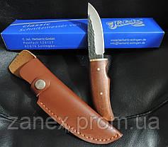 Кованный охотничий нож с кожаным чехлом. Нож Herbertz - Германия., фото 2