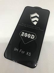 Iphone XS защитное стекло 5D 6D 9D 200D Premium Премиум Full Glue полное покрытие полный клей
