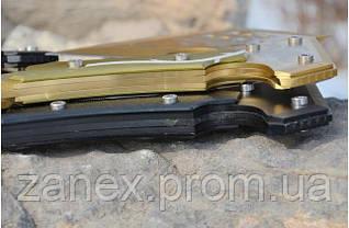 Топор кованый туристический, метательный томагавк. Модель SOG APACHE. Топорик метательный. Золото с орнаментом, фото 3