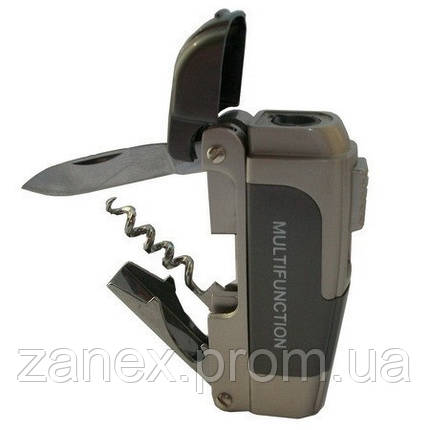 "Нож ""Multifunction"" 4х1 зажигалка - нож, открывалка, штопор., фото 2"