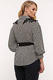 Блуза нарядная Франческа черно-белая, фото 6