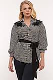 Блуза нарядная Франческа черно-белая, фото 7