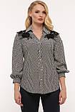 Блуза нарядная Франческа черно-белая, фото 8