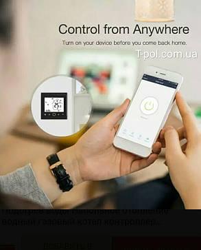 Терморегулятор pwt-002 c wi-fi управлением для теплого пола и для настенных обогревателей, фото 2