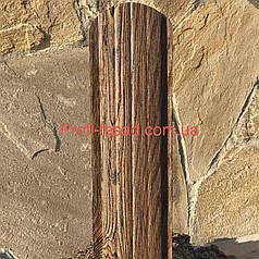 Штахетник 3Д 2х сторонній 105мм 115мм евроштакетник, штахет Темне Дерево 3Д, 105