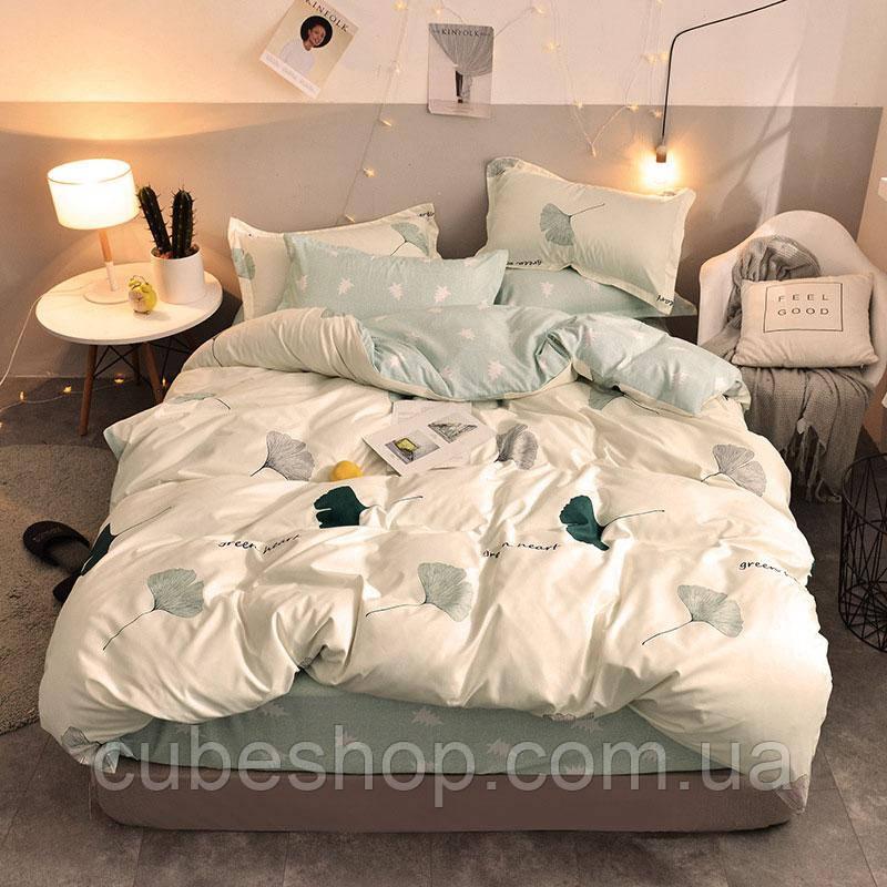"""Комплект постельного белья """"Зеленое сердце"""" (двуспальный-евро)"""